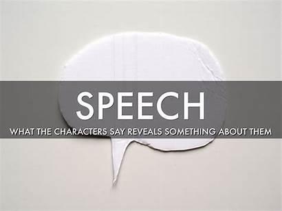 Indirect Characterization Speech