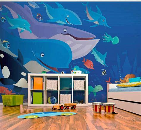 wandgestaltung kinderzimmer unterwasserwelt fototapete im kinderzimmer 30 wandgestaltung ideen