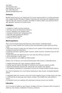 resume for health analyst professional benefits analyst templates to showcase your talent myperfectresume