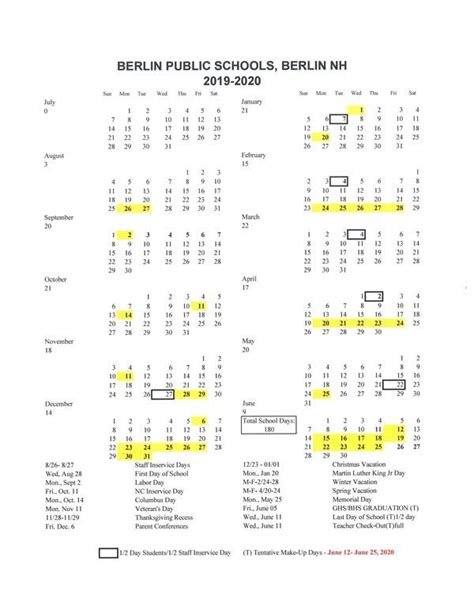 approved calendar