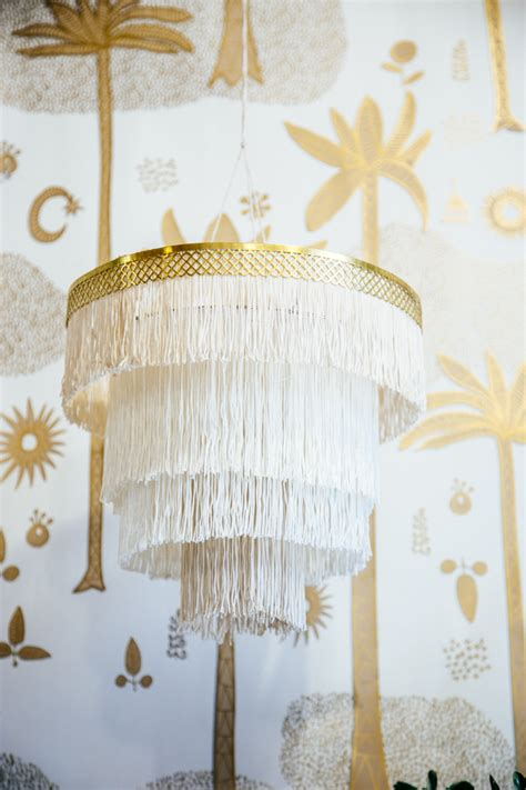 diy boho fringe chandelier the jungalowthe jungalow