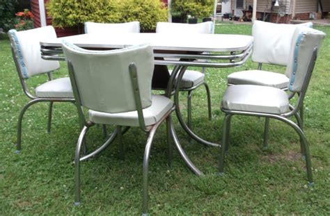 Vintage Formica Kitchen Table by Vintage 1950s Gray Top Formica And Chrome Retro