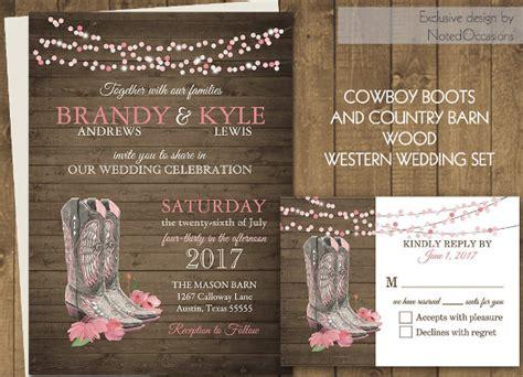 western wedding invitation  psd jpg indesign format