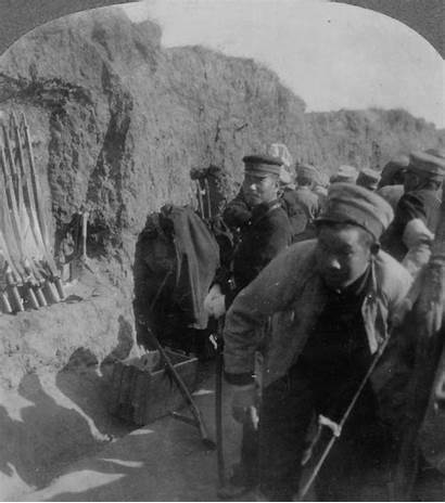 Japanese Trench Soldiers Port During Arthur Library