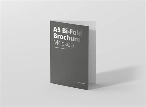 A4 Bifold Brochure Mockup A5 Bi Fold Brochure Mockup Mockupworld