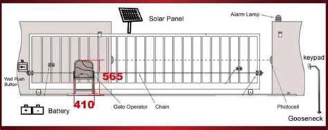 sliding gate opener solar powered sliding gate opener ac1300 back up kit acc2 aleko