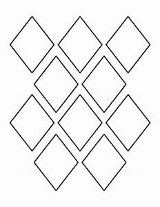 3 inch diamond pattern use the printable outline for With shape templates for scrapbooking