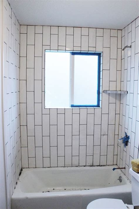 how to tile tub surround how to tile a shower tub surround part 2 grouting