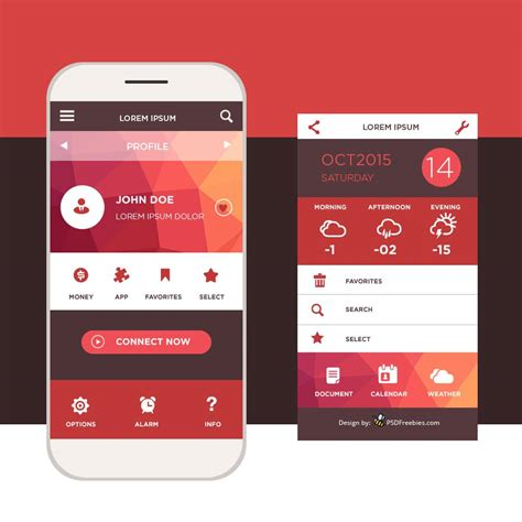 latest  mobile app ui psd designs css author