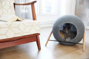 modern cat furniture stylish cat beds and cocoons for the discerning pet