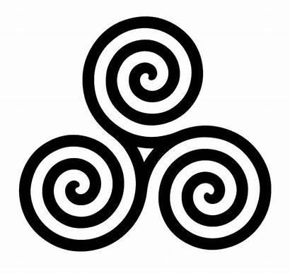 Celtic Symbols Triskelion Clipart Past Future Three