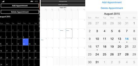 set appointments calendar xamarinforms