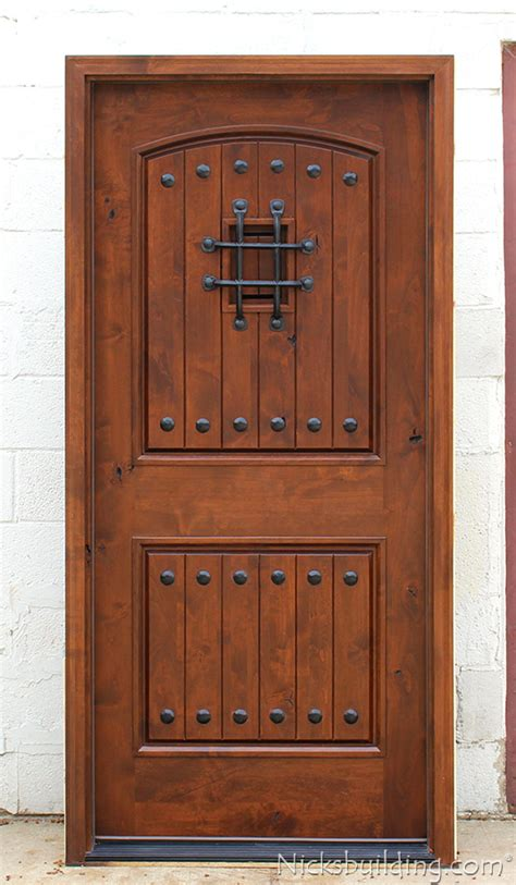 alder wood doors rustic doors single exterior door knotty alder doors