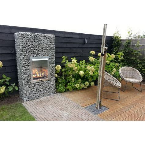 designer garten gabion garden fireplace bbq