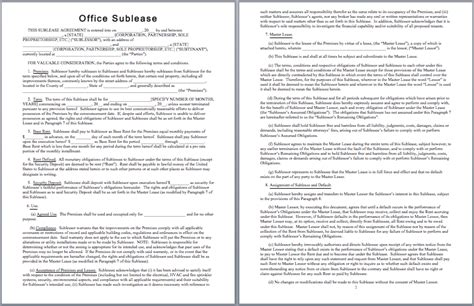 Office Sublease Agreement Template by Office Sublease Agreement Template Templates
