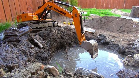 rc adventures dredge mineral mining   earth digger xl excavator screening bucket