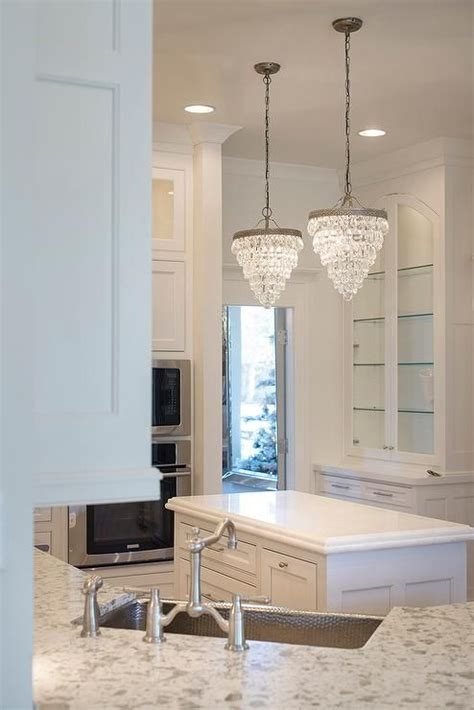 pottery barn clarissa crystal drop small  chandeliers