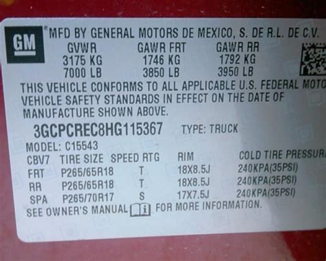 Chevrolet Number by Chevy Engine Id Number Vin Code Impremedia Net