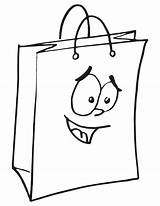 Bag Coloring Shopping Money Pages Drawing Template Bags Printable Cartoon Smiley Getdrawings Tags Getcolorings Mini sketch template