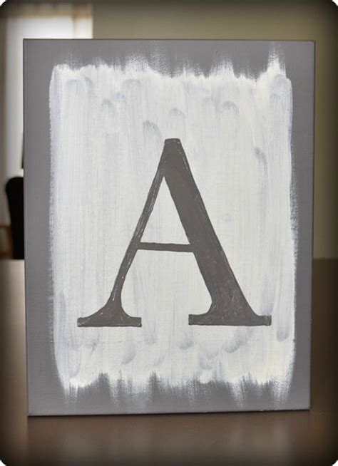 painted letter canvas art knockoffdecorcom
