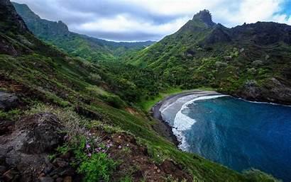 Mountain Tropical Island Sea Landscape French Nature