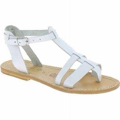 Sandals Leather Flat Handmade Italy Womens Reduced