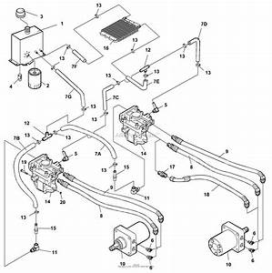 Bunton  Bobcat  Ryan 942221  52 Side Discharge Parts Diagram For Hydraulics