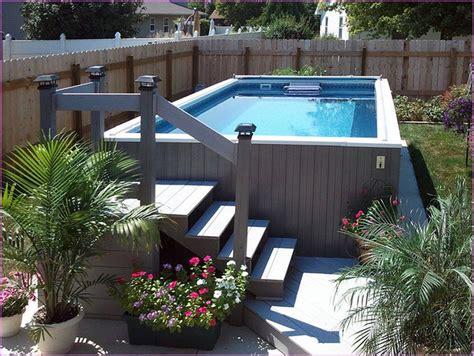 Ground Pool Ideas  Small Backyard Backyard