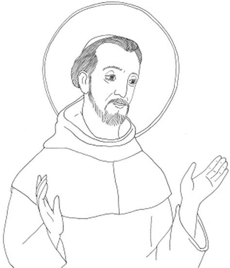 free coloring pages of st francis of assisi