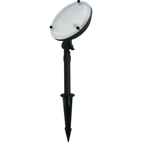 shop portfolio 35 watt black low voltage halogen landscape