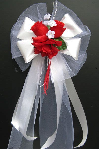 pew bows church decoration wedding bouquet bridal silk