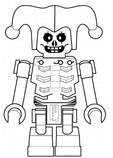 lego skeleton coloring pages | Lego coloring pages, Lego