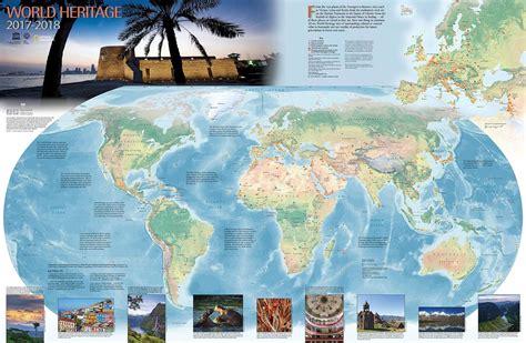 world heritage map published unesco world