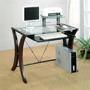 metal and glass cappuccino computer workstation computer