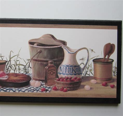 country wall decor for kitchen country kitchen canisters sign wall decor plaque vintage 8480