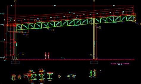 steel structure portico dwg detail  autocad designs cad
