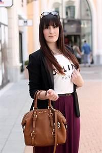 Un outfit estivo e casual con gonna lunga t-shirt Cu00e9line e blazer | Le FreakS - Fashion Blogger ...