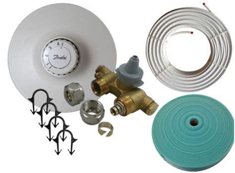 sqm danfoss wet underfloor heating kit radiator