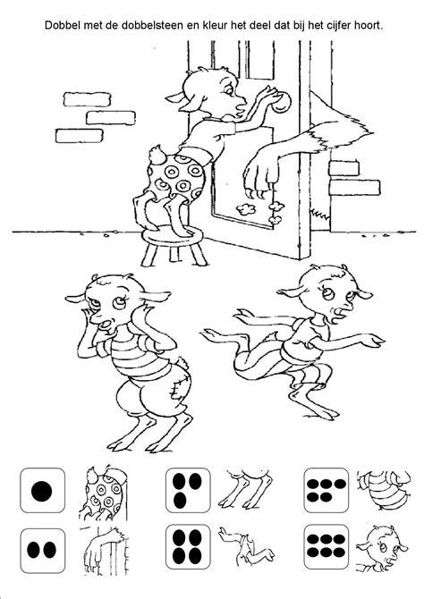 Kleurplaat 7 Geitjes by Kleurplaten Wolf En De 7 Geitjes