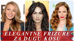 Moderne frizure za dugu kosu 2018 za žene - YouTube
