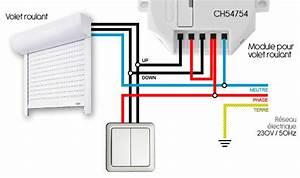 Branchement Volet électrique : guide d installation du module volet roulant chacon 54754 ~ Melissatoandfro.com Idées de Décoration