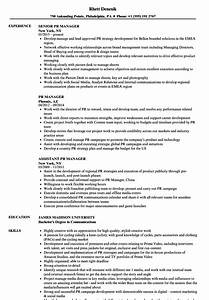 Pr Manager Resume Samples