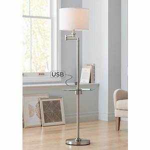 possini euro cherry finish wood surveyor tripod floor lamp With possini euro derrick floor lamp with tray table