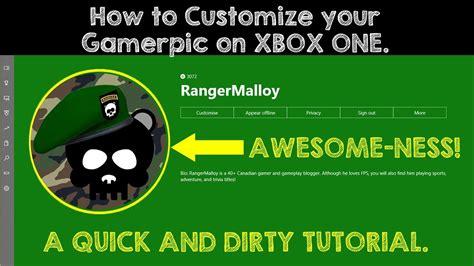 How To Upload A Custom Gamerpic On Xbox One Youtube