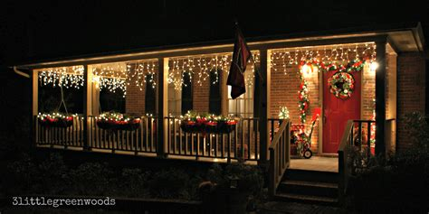 bright  cheery christmas porch