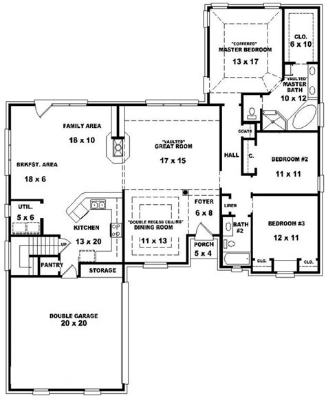 3 bed 2 bath floor plans 653884 traditional 3 bedroom 2 bath house with open