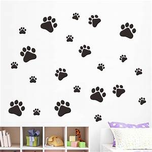 cat paw wall sticker free shipping worldwide With kitchen cabinets lowes with paw print stickers