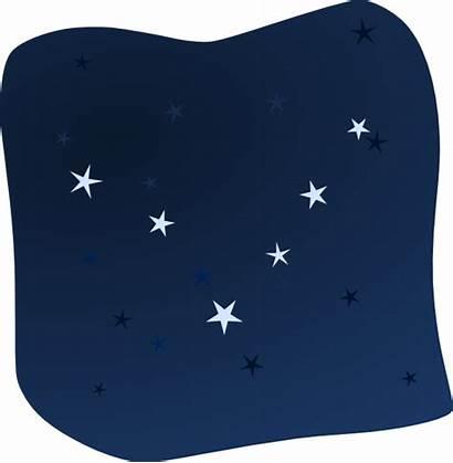 Night Stars Sky Clipart Clip Vector Cliparts