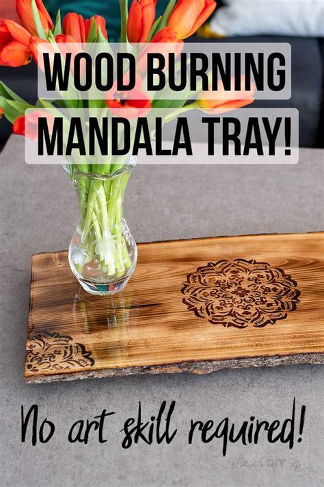 diy wood burning mandala tray woodworking scrap wood