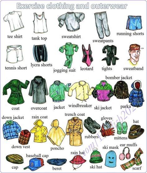 Vocabulary Exercise Clothing And Outerwear  English Language, Esl, Efl, Learn English